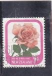 Sellos del Mundo : Oceania : Nueva_Zelanda : FLORES- ROSA AMARILLA