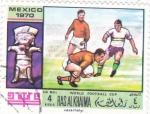 Sellos del Mundo : Asia : Emiratos_Árabes_Unidos : MUNDIAL FUTBOL MEXICO-70