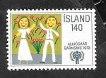 Sellos del Mundo : Europa : Islandia : 496 - Año internacional del niño