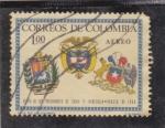 Stamps Colombia -  VISITA DE LOS PRESIDENTES
