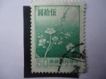 Sellos de Asia - China -  Flor Nacional - Flores de Ciruelo - China-Taiwán. China-Taiwán.