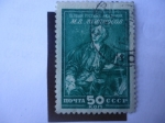 Stamps Russia -  Mijail Vasilievich Lomonosov (1711-1765)Científico Ruso