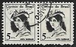 Sellos de America - Brasil -  Anita Garibaldi (1821~1849)