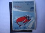 Stamps Italy -  Bobsleigh de Dos Hombres (Di Bob) Campeonato Mundial-Ciudad Cortina D´Ampezzo