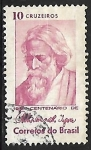 Sellos de America - Brasil -  Rabindranath Tagore (1861-1941)