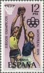 Sellos de Europa - España -  ESPAÑA 1976 2343 Sello Nuevo XXI Juegos Olimpicos en Montreal (Canada) Baloncesto
