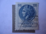 Stamps Italy -  Moneda de Siracusa - a la izquierda