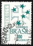 Sellos de America - Brasil -  Exposicion filatélica Brasil - Portugal