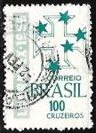sello : America : Brasil : Exposicion filatélica Brasil - Portugal