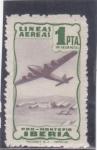 Sellos de Europa - España -  LINEAS AÉREAS IBERIA (34)letra en verde