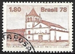 Stamps Brazil -  Restauración de la Iglesia del Patio del Colegio