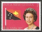 Stamps Oceania - Papua New Guinea -  320 - 25 Anivº de la subida al trono de Elizabeth II