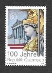 Stamps : Europe : Austria :  Centenario de la Fundación de la República de Austria