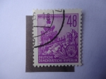 Stamps Germany -  Dresden Zwinger-Aufbau-DDR