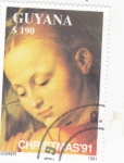 Stamps : America : Guyana :  NAVIDAD-91 Dürer