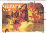 Stamps : America : Guyana :  NAVIDAD- Tiziano