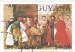 Stamps : America : Guyana :  PINTURA DE TIZIANO