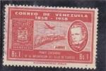 Stamps Venezuela -  CENTENARIO DE LA IMPLANTACIÓN DEL SELLO DE CORREOS