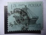Stamps Poland -  Holk, del Siglo XVI - Veleros