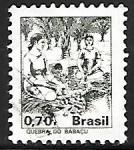 Sellos del Mundo : America : Brasil : Profesiones - Quebra do Babaçu
