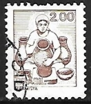 Stamps of the world : Brazil :   Profesiones - Ceramista