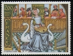 Stamps : Europe : France :  Miniatura del siglo XV