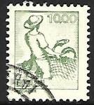 Stamps Brazil -  Profesiones - Pescador