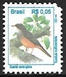 Sellos de America - Brasil -  Sabiá - Laranjeira