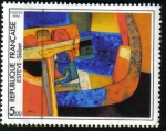 "Stamps : Europe : France :  ""Skibet"" M. Esteve"