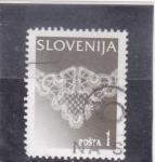 Stamps : Europe : Slovenia :  Macramé