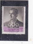 Stamps San Marino -  ALBERTO BONACOSSA-dirigente deportivo