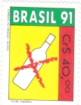 Stamps : America : Brazil :  COMBATE LAS DROGAS-ALCOHOL
