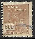 Stamps Brazil -  Mercurio y el Globo