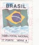Stamps : America : Brazil :  BANDERA BRASILEÑA