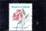 Sellos de America - Brasil -  FLORES- ERYTHINA CRISTA-GALLI