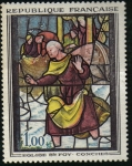 Stamps : Europe : France :  Vitral de Iglesia Saint Foy-Conches