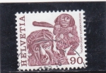 Stamps Switzerland -  FIESTAS POPULARES- LOTSCHENTAL