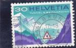 Sellos de Europa - Suiza -  TUNEL DE SAN BERNARDINO