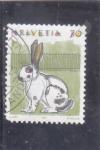 Stamps : Europe : Switzerland :  ILUSTRACIÓN CONEJO