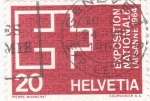 Stamps : Europe : Switzerland :  EXPOSICIÓN NACIONAL LAUSANNE