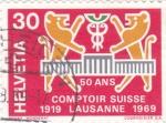 Sellos del Mundo : Europa : Suiza :  50 ANIVERSARIO LAUSANNE