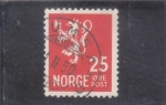 Sellos de Europa - Noruega -  LEÓN RAMPANTE
