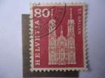 de Europa - Suiza -  Catedral San Gallen (ó San Galo) Estilo Barroco - Patrimonio de la Humanidad-UNESCO.