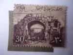 Sellos del Mundo : Africa : Egipto :  EAU-Estados Arabes Unidos - La Puerta de San Simón (Bosra) Símbolo Nacional.l