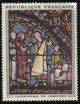 Stamps : Europe : France :  Vitral de Catedral de Chartres