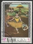 Stamps Asia - United Arab Emirates -  Ras al Khaima - 45 - Cuadro del Museo de Louvre