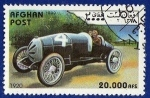 Stamps : Asia : Afghanistan :  Coches de carreras vintage