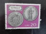 Stamps Europe - San Marino -  Escudo/moneda