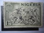 Sellos del Mundo : Africa : Nigeria : Ginetes y Caballos del Imperio Bornu- Nigeria-Africa