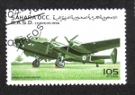 Stamps : Africa : Morocco :  Avión